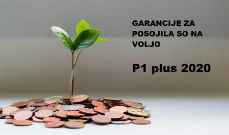 P1 plus 2020 – Garancije Sklada za bančne kredite s subvencijo obrestne mere