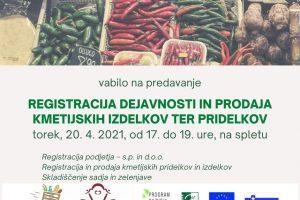 Vabilo_registracija podjetja in prodaja kmetijskih izdelkov in pridelkov